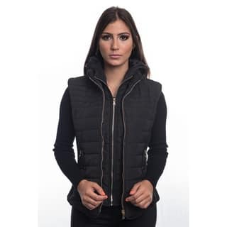 Ladies Zip Up Hooded Vest by Special One (Option: Black)|https://ak1.ostkcdn.com/images/products/18122385/P24276381.jpg?impolicy=medium