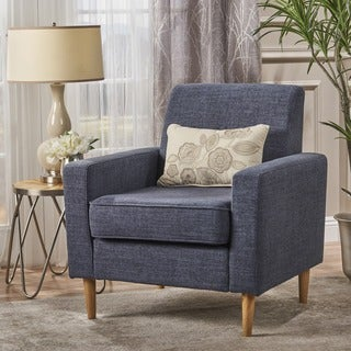 Asheville Blue Linen Chair Free Shipping Today