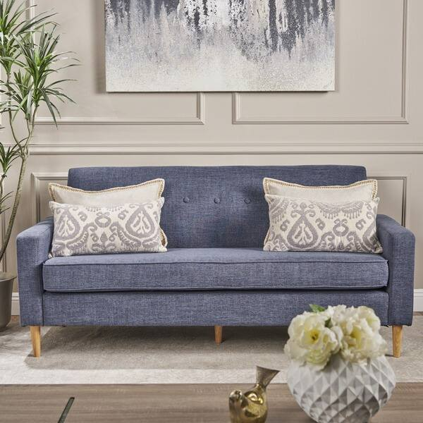 Terrific Shop Sawyer Mid Century Modern 3 Seater Fabric Sofa By Machost Co Dining Chair Design Ideas Machostcouk