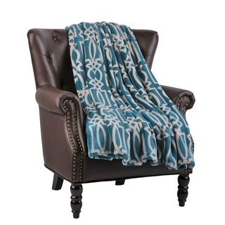 """BOON Micro Flannel Carteret Couch Cover Throw Blanket, 60"""" x 70"""""""