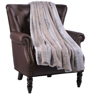 """BOON Micro Flannel Naomi Couch Cover Throw Blanket, 60"""" x 70"""""""