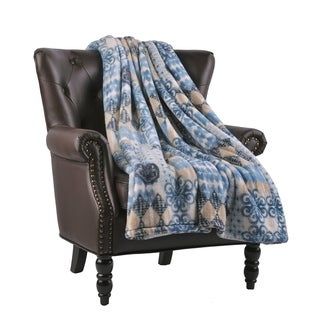 """BOON Micro Flannel Global Fusion Couch Cover Throw Blanket, 60"""" x 70"""""""