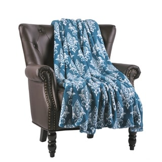 """BOON Micro Flannel Hennessy Couch Cover Throw Blanket, 60"""" x 70"""""""