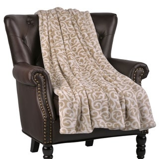 """BOON Micro Flannel Nika Couch Cover Throw Blanket, 60"""" x 70"""""""