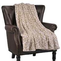 """BOON Flannel Velvet Nika Couch Cover Throw Blanket, 60"""" x 70"""" - 60"""" x 70"""""""