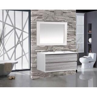 "Tahiti 48"" Single Sink Bathroom Vanity, Gray"