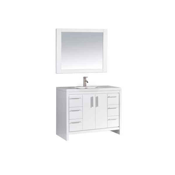 Single Sink Bathroom Vanity Set White
