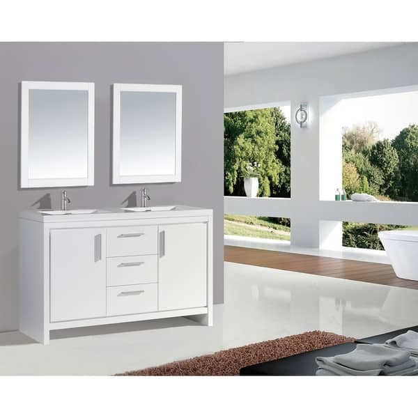 60 Inch Double Sink Bathroom Vanity Set