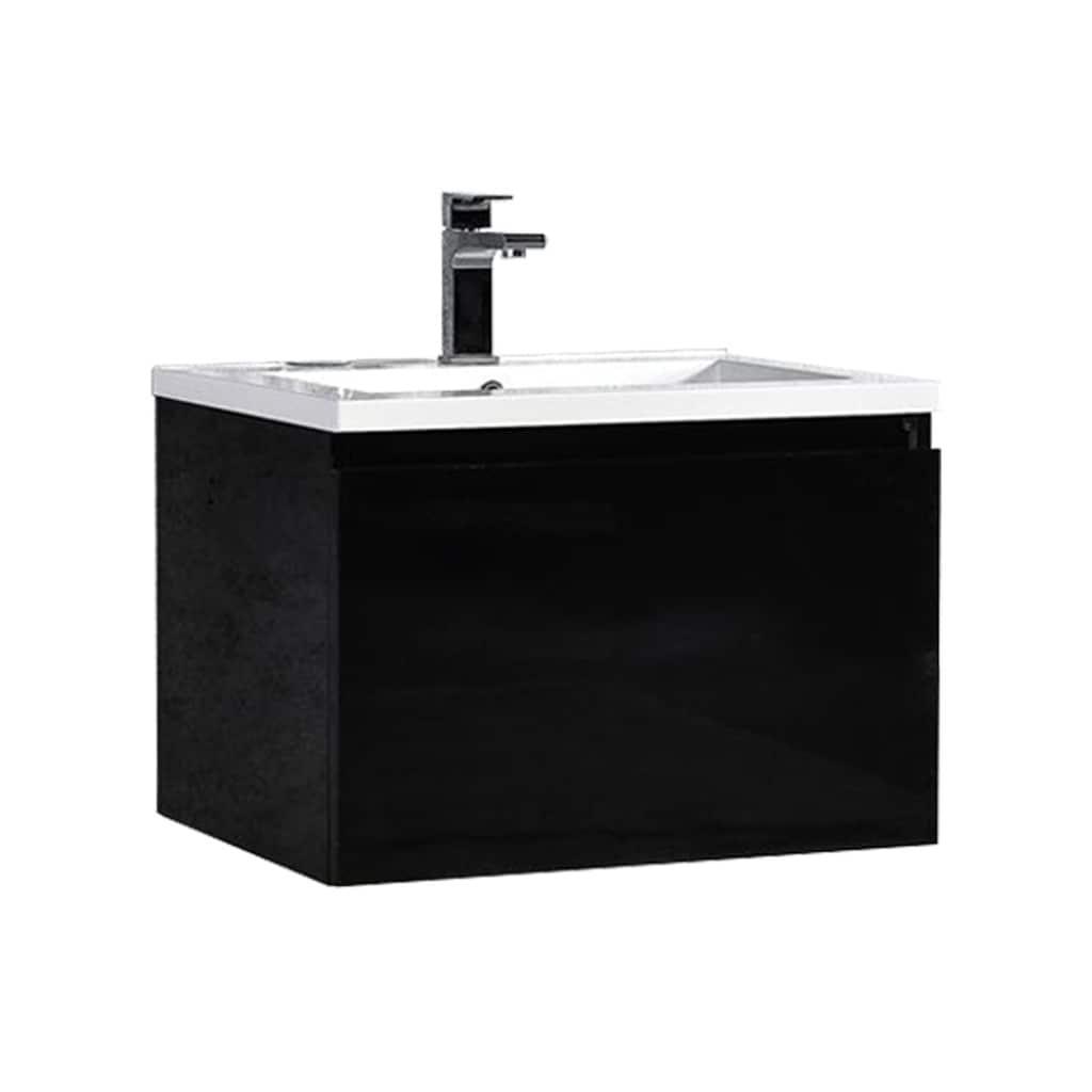 MTD Vanities Sunset Black/ White 24-inch LED Single Float...