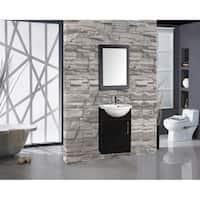 "Athena 16"" Single Sink Bathroom Vanity, Black"