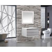 "Tahiti 36"" Single Sink Bathroom Vanity, Gray"