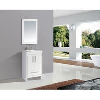 "Miami 24"" Single Sink Bathroom Vanity Set, White"