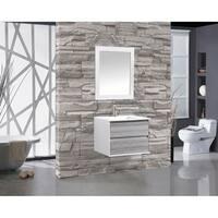 "Tahiti 30"" Single Sink Bathroom Vanity, Gray"