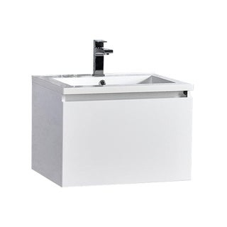 MTD Vanities Sunset Glossy Finish 24-inch LED Single Floating Bathroom Vanity