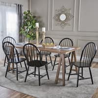 Ansley Farmhouse Cottage 7-piece Wood Dining Set by Christopher Knight Home