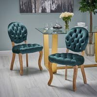 Xenia Tufted Velvet Dining Chair (Set of 2) by Christopher Knight Home