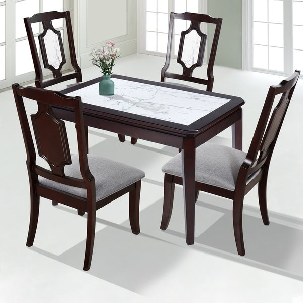 Shop Sleeplanner Natural Marble Deluxe Solid Wood Dining