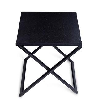 Sleeplanner Black Granite Dura Metal Frame End Table
