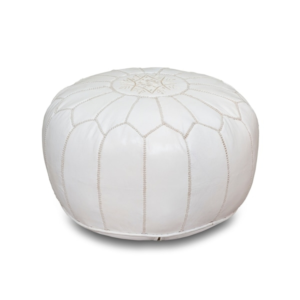 Excellent Buy White Leather Ottomans Storage Ottomans Online At Gmtry Best Dining Table And Chair Ideas Images Gmtryco