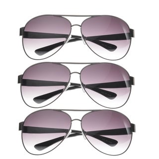 MLC Pilot Fashion Aviator Sunglasses (SET OF 3) (Option: White)