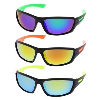 MLC Eyewear Ultra Light Weight Full Frame Sport Sunglasses Model:3184 (Option: Black)