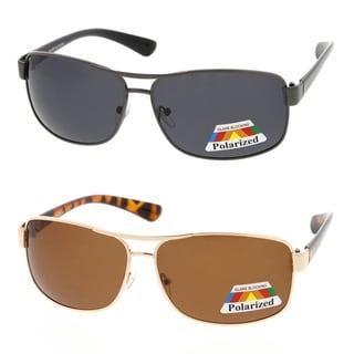 MLC Eyewear Ultra Light Polarized Rectangular Aviator Sunglasses Model:749