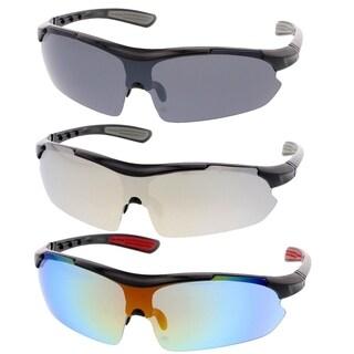 MLC Eyewear Ultra Light Weight Full Frame Sport Sunglasses (SET OF 3) - multi-color