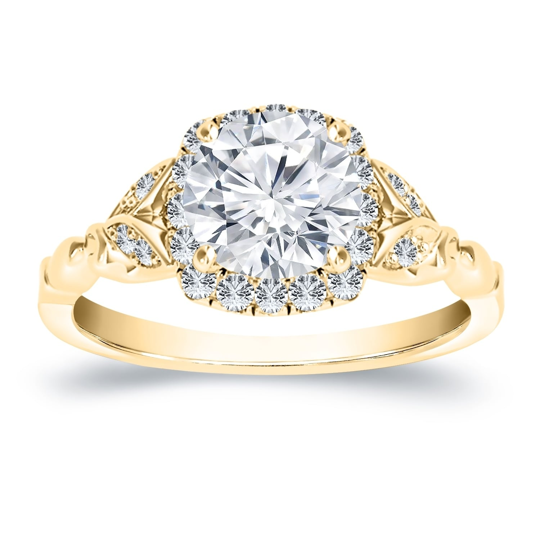 CZ Bridal Engagement Wedding Ring 3 PC Heirloom Antique 1.75 Ct SIZE 7 Set