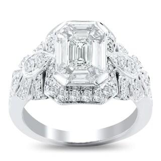 Auriya 14k White Gold 1 5/8ct TDW Diamond Engagement Ring - White G-H