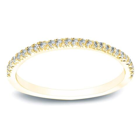 Auriya 14k Gold Diamond Wedding Band 1/2ct TDW