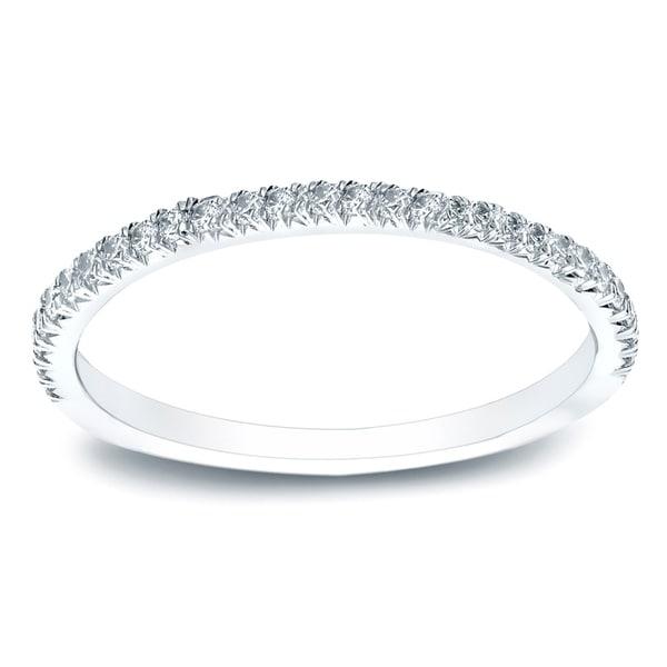 Auriya 14k Gold 1/2 TDW Round Diamond Wedding Band