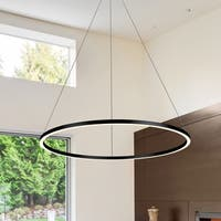 VONN Lighting VMC34911BL Tania 39-inch Modern Circular Chandelier in Black