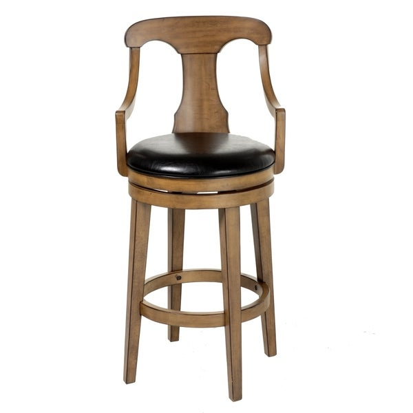 Shop Albany Wood Bar Or Counter Stool With Black