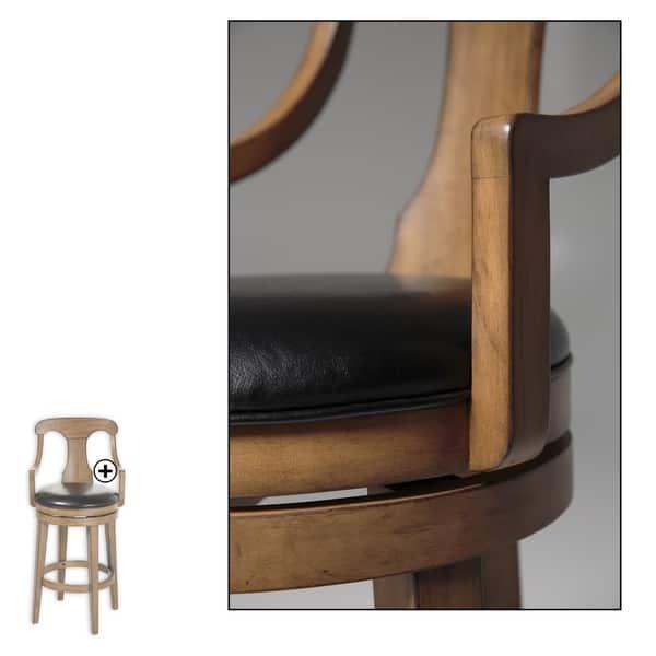 Leggett Platt Albany Wood Bar Or Counter Stool With Black Upholstered Swivel Seat Overstock 18125978