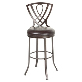 Lincoln Metal Bar or Counter Stool with Padded Swivel-Seat, 2-Pack