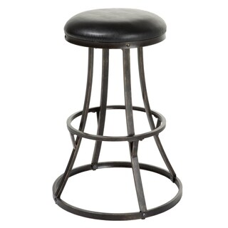 Dover Metal Bar or Counter Stool with Upholstered Swivel-Seat