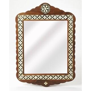 Butler Gabby Brown Wood Bone Inlay Wall Mirror