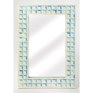 Butler Serena Blue Resin/Wood Wall Mirror