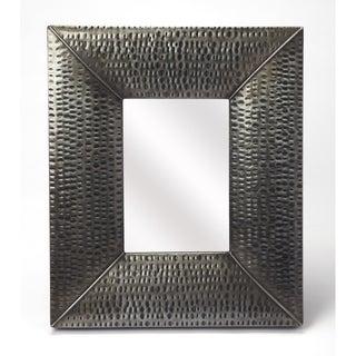 Butler Lehigh Hammered Gray Frame Iron Wall Mirror