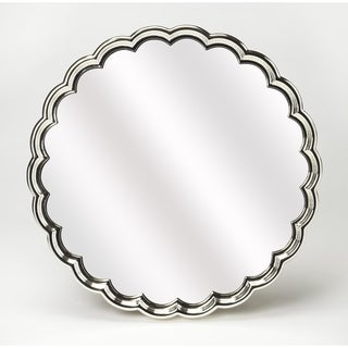 Butler Moira Silvertone Scalloped Wall Mirror