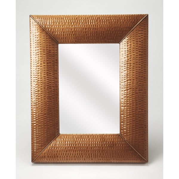 Shop Butler Lehigh Hammered Copper Frame Iron Wall Mirror - On Sale ...