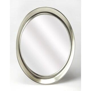 Butler Brancato Silver Oval Wall Mirror