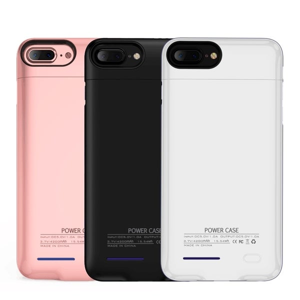 shop iphone 7 plus, 6s plus, 6 plus 4200 mah uv shine back covershop iphone 7 plus, 6s plus, 6 plus 4200 mah uv shine back cover battery charging case free shipping on orders over $45 overstock 18126117