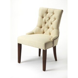 Butler Mauricette Plantation Cherry/Ivory Birchwood/Faux Linen Accent Chair