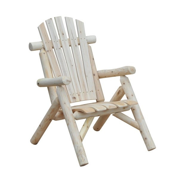Shop Outsunny Fir Wood Adirondack Outdoor Patio Lounge Chair Free