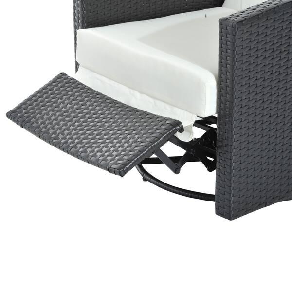 Amazing Shop Outsunny Rattan Wicker Swivel Outdoor Recliner Lounge Inzonedesignstudio Interior Chair Design Inzonedesignstudiocom
