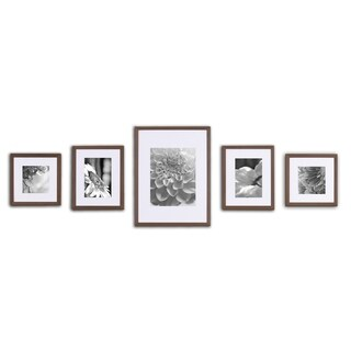 Wall Kit Walnut Picture Frame (5-Pack)