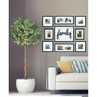 9 Piece Family Decor Black Collage Kit Picture Frame