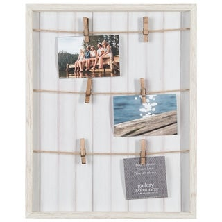 16x20 Collage Whitewash Pallet with Clips Picture Frame