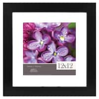 12x12 Float to 8x8 Wide Black Picture Frame